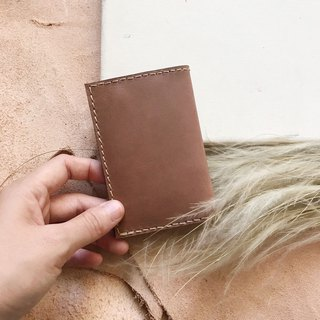 Leather card holder_Business card holder_Dark brown