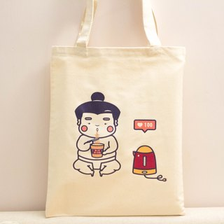 Sumo Ah fat - cup noodles and penguin kettle A4 Tote bag