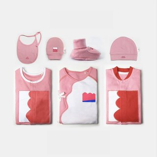 Baby cotton climbing clothes jumpsuit red gift box seven sets of Windsor