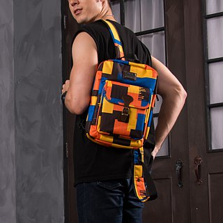 "SOLIS [ Camouflage Series ] 10"" Tablet Backpack(Yellow Rocking)"