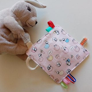 Foundation cat and bear moon gift, appease towel, paper towel, appease small squares, comfort toys
