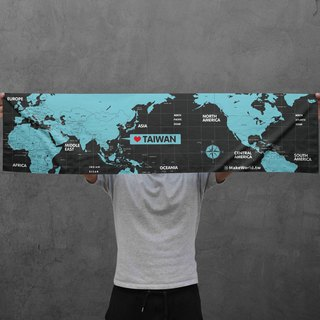 Make World map making sports towel (midnight)