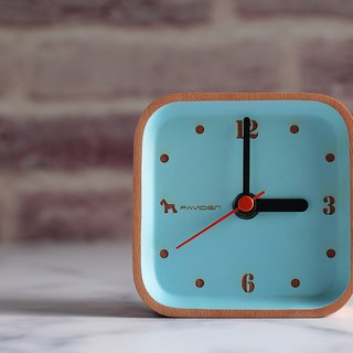 Reyana square table clock (wood color) beech