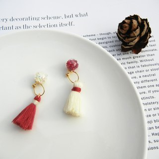 *coucoubird*Christmas tassel earrings