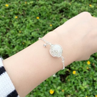 *Haku‧Neko*Shiny silver glass star big stars Star Bracelet