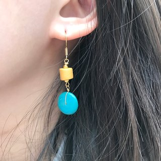 Why Not? Also! Coconut Shell Earrings TIFFANY GREEN