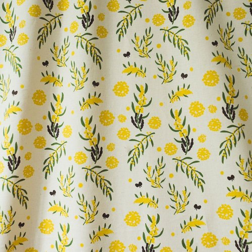 Wide flat woven cotton / Miller series / yellow Acacia
