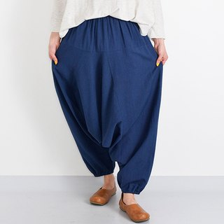 Simple relaxed saruel pants