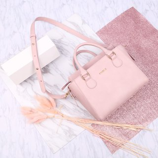 Fresh and simple design Light pink artificial leather Petite Twin Bag