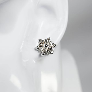 zo.craft ice crystal snowflake / earrings / 925 sterling silver