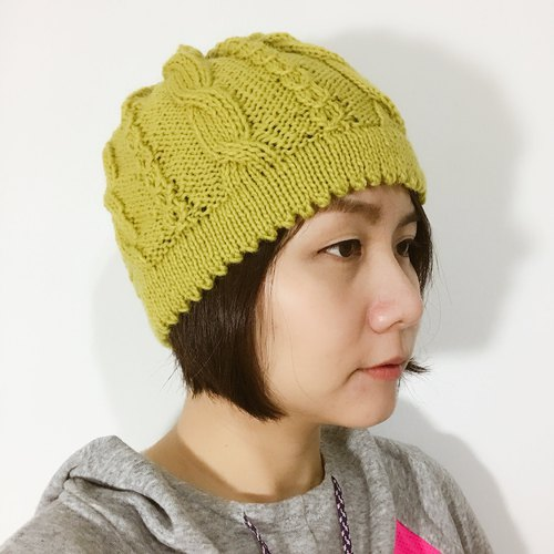 Mustard yellow retro lady hat