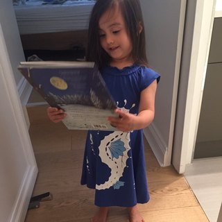[Canadian brand] organic cotton dress / child-Seahouse sea horse size: 2Y