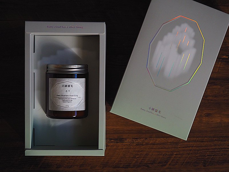 小缽盛光 ::: 02 徜徉寂靜的海洋 ::: 植癒系香氛蠟燭禮盒