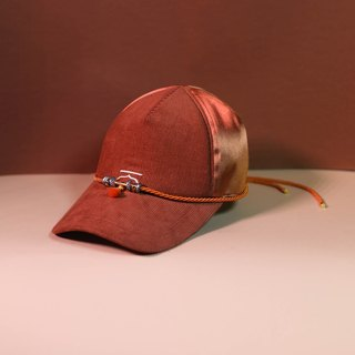 Orange customise moroccan cap and choker - Moroqshade