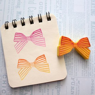 Apu handmade chapter generous cute striped bow seal stamp