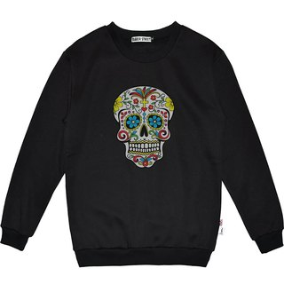 British Fashion Brand -Baker Street- Día de Muertos Print Sweater