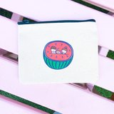 西瓜の日常 貓帆布零錢包 手工印製 Coin bag