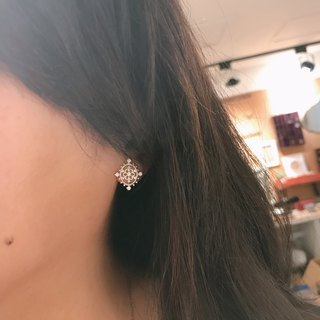 [Charlie Sterling] Silver snow earrings (ear / ear acupuncture / clip) Christmas snowflakes discount limited