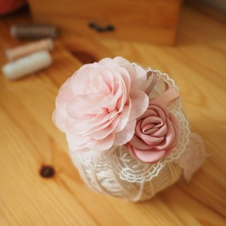 Handmade fabric flower baby / kid headband