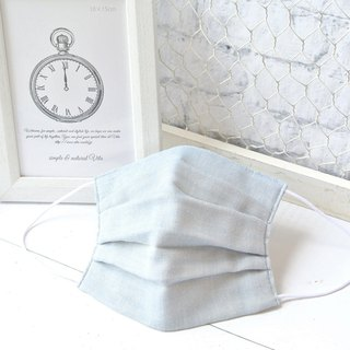 Smooth breathing handmade mask | Plain Lightblue | For sensitive skin | TEMARIYA
