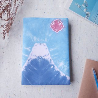 : Mount Fuji : Hadmade Tie dye Book Cover for A5 Adjustable Xmas gifts