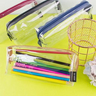 Transparent pencil case (middle) / exam examination room dedicated / transparent storage bag - do it now.