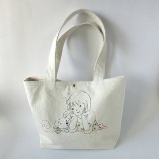 Ex-gratia handmade embroidery bags - girls and dogs shoulder bags, side backpacks, big bags, totes