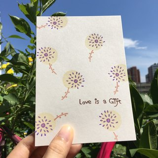 *Miss L handmade postcard* Love is a Gift