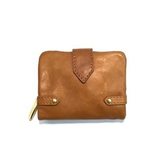 Folded Leather Leather Unisex Italy Leather Wallet