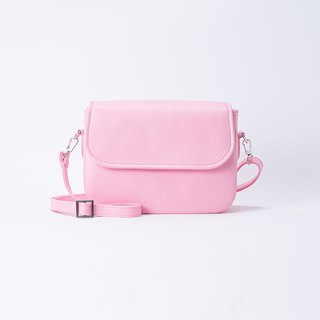 Rounded Side Backpack Pink / Pink