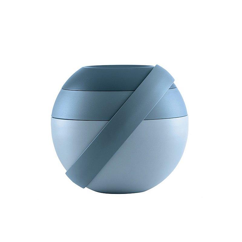 圓筒多層附餐具造型便當盒-共3色
