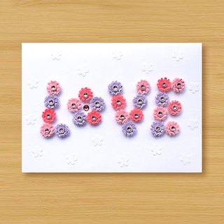 Handmade Roll Paper Card _ Pattern Love_A ... Mother Card, Valentine Card, Wedding Card