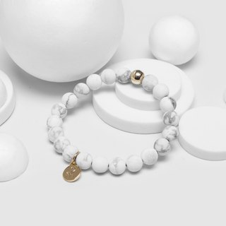 Matte 8MM - Natural Beaded Bracelet (White)