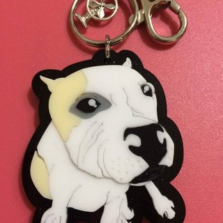 Lectra duck dog ♣ ♣ color (custom) Exclusive Boutique key ring / necklace [articles] law bucket