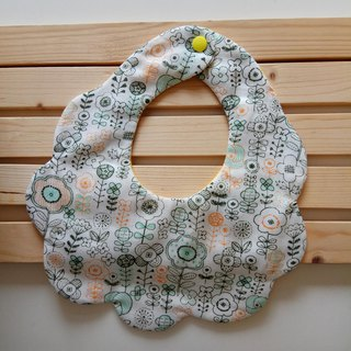 Japanese cotton gauze flowers, moon gift, bib six-layer yarn, eight-layer yarn