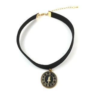 Alice Black licensing round Necklace