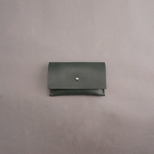 Card holder. Dark green / Free Personalized embossing / Vegetable tanned leather / leather / RRENAE Leatherware