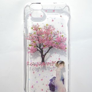 Pressed flower phone case, Handmade phone case, Cherry tree, Made to order