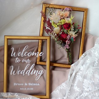 Wedding Welcome Table Flower Frame Set-F04