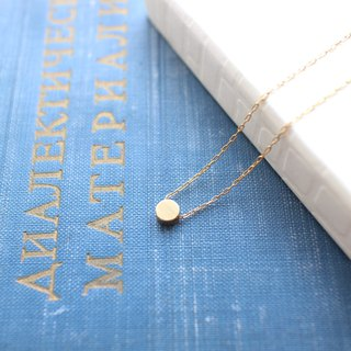 Little circle-Brass handmade necklace