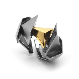 BERMUDEZ Ring / Gun Metal - 18K Yellow Gold (Exclusive design jewelry)
