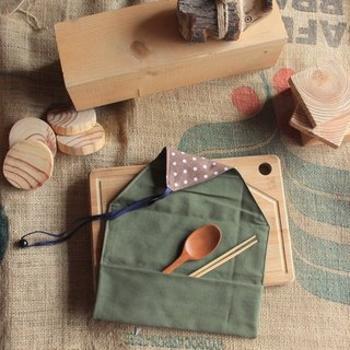 weimom's micro-invasive Mans cloth: little olive - pencil, chopstick sets, tableware bags, rolls ● Made in Taiwan - handmade yield, Christmas gifts