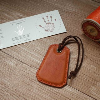 Minerva box wrestling leather leisure card chip pendant - B section - orange coffee
