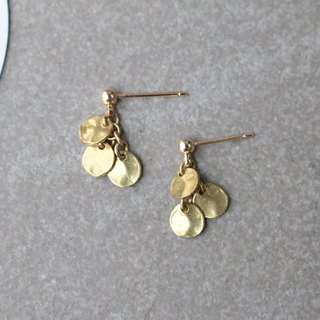 Brass earrings 1147 - long time no see