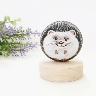 Hedgehog Stone Painting,Little Art for Gifts.