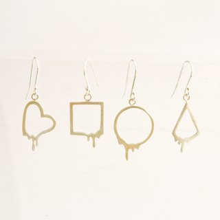 Melted Geometry Earrings
