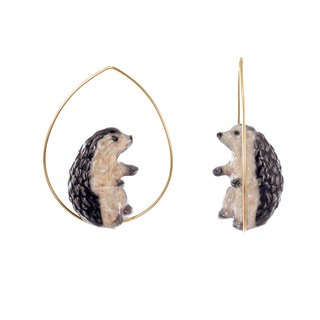 Hedgehog Hoops Earrings 刺蝟