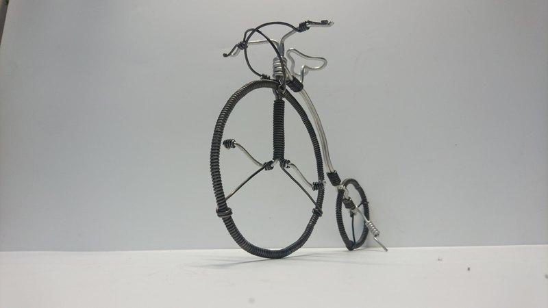鋁線腳踏車-高輪車(附PVC包裝盒)