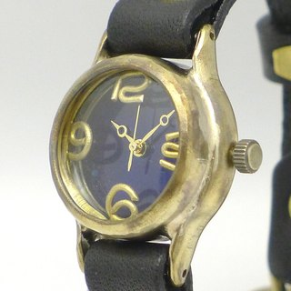 "Hand made watch HandCraftWatch ""Lady on Time-B"" color dial BL / BK Lady's Brass [305 BL / BK]"