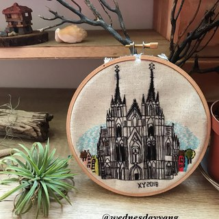Cologne Cathedral Embroideryart